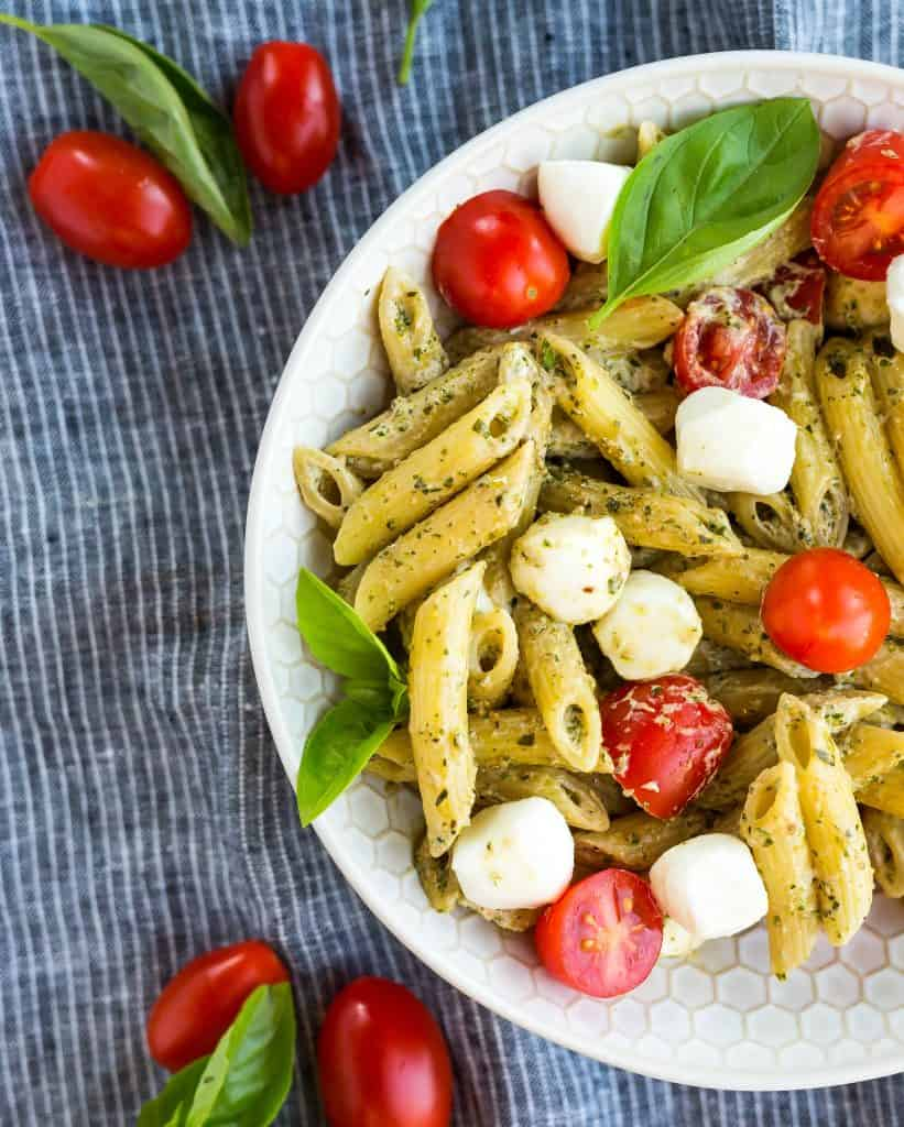 Easy Pesto Pasta | Salt & Baker
