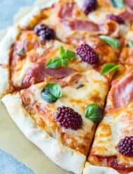Prosciutto Blackberry & Basil Pizza | Salt & Baker