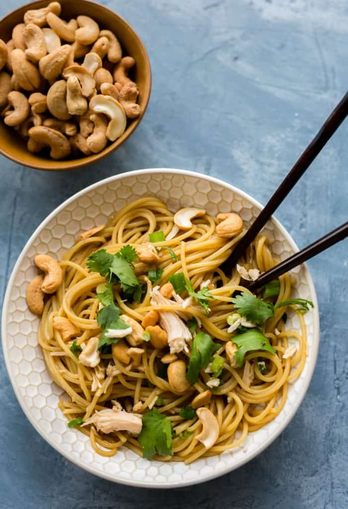 This sesame cilantro noodle bowl has a perfectly salty taste; your family will go crazy for it!