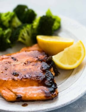 Brown Sugar Crusted Salmon | saltandbaker.com