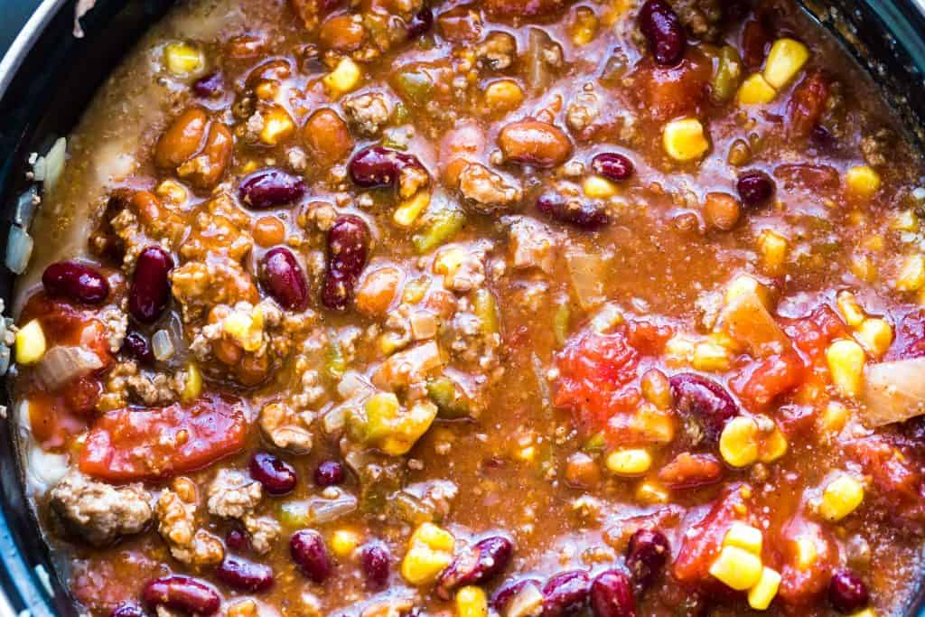 Close up of Taco Soup.