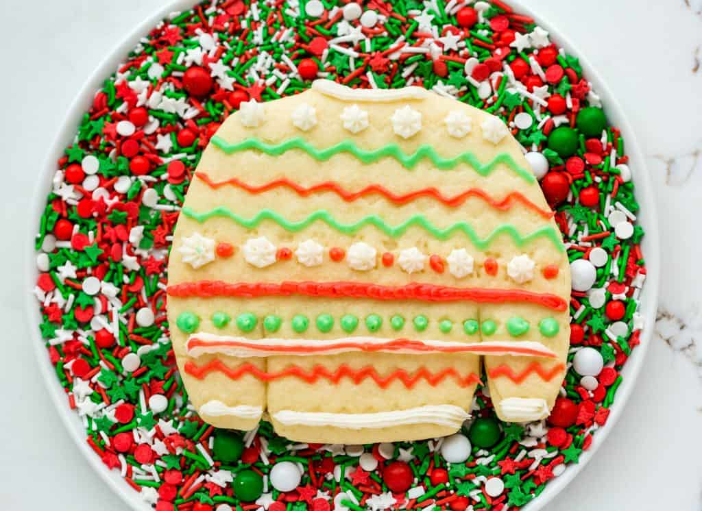Ugly sweater sugar cookies.