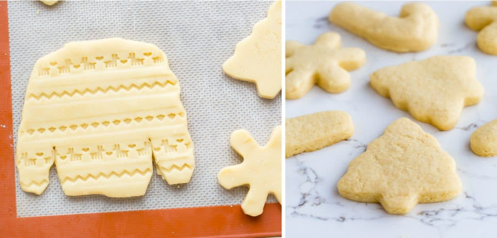 Christmas cut outs from a perfect never fail sugar cookie recipe.