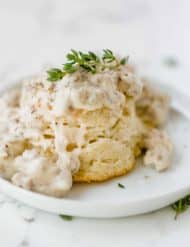 Biscuits and Gravy with thyme.