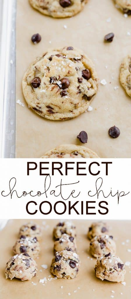 The BEST chocolate chip cookies ever! #chocolatechipcookie #cookies #recipes #food
