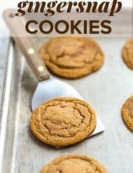 Soft Gingersnap Cookies | saltandbaker.com