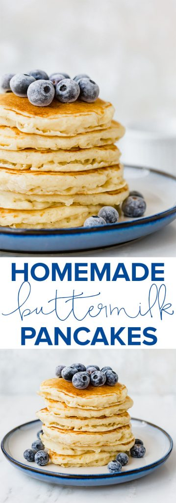 Homemade Buttermilk Pancakes. Easy, fluffy, and downright delicious!!