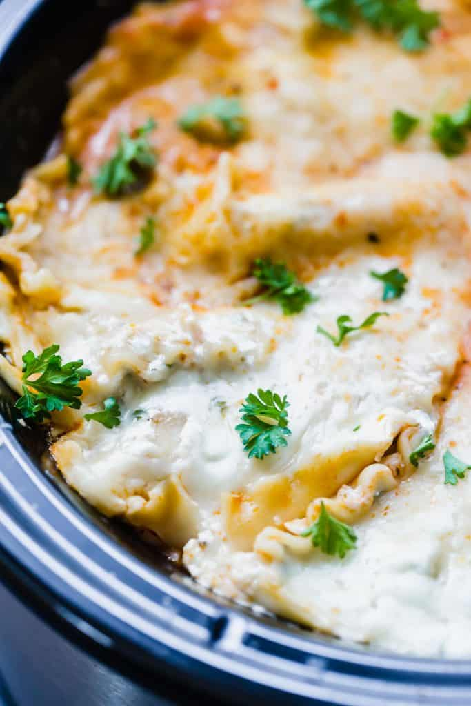 Slow Cooker Lasagna is the perfect meal to make in your slow cooker!