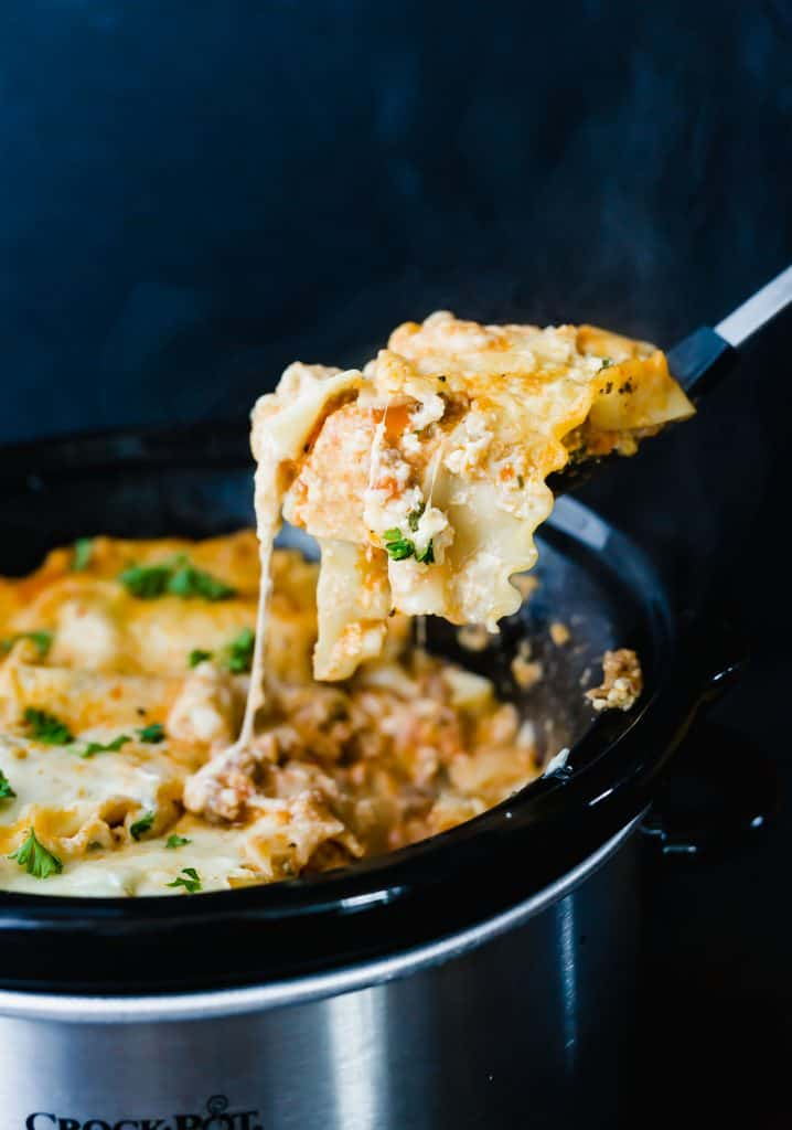 Slow Cooker Lasagna is the perfect meal for those cold and busy nights!