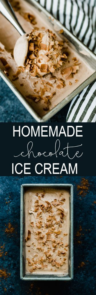 Delicious, smooth, and creamy homemade chocolate ice cream!