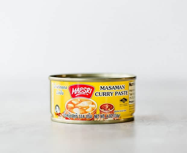 A 4 ounce can of Massaman Curry paste.