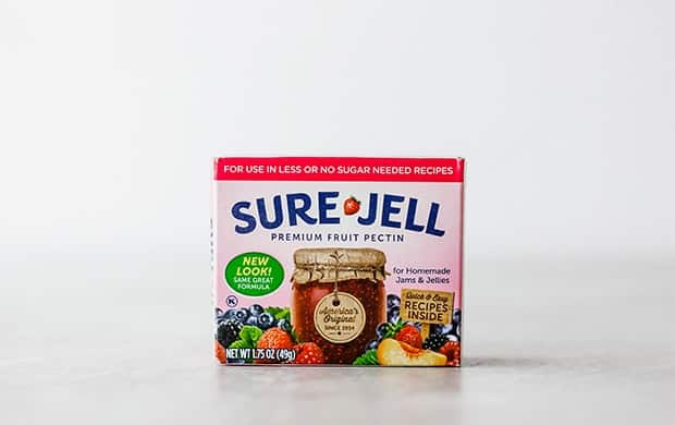 Photo of a box of Sure-Jell pectin.