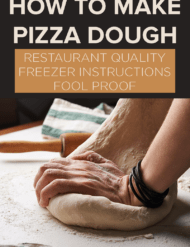Hands kneading dough.