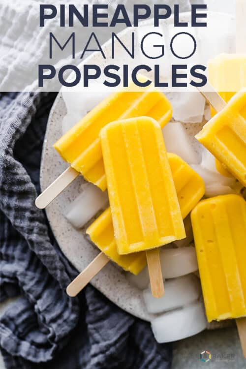 A pile of pineapple mango popsicles.