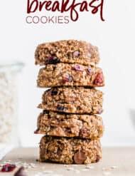 A stack of breakfast cookies.