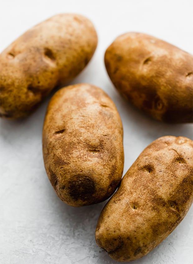 4 russet potatoes.