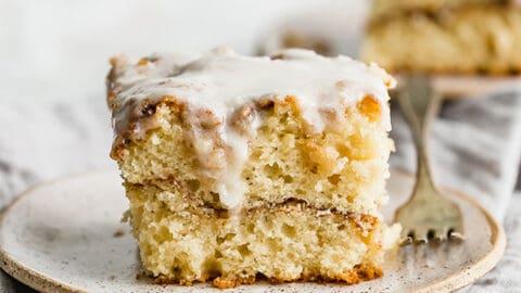 Cinnamon Roll Sheet Cake Super Moist Salt Baker