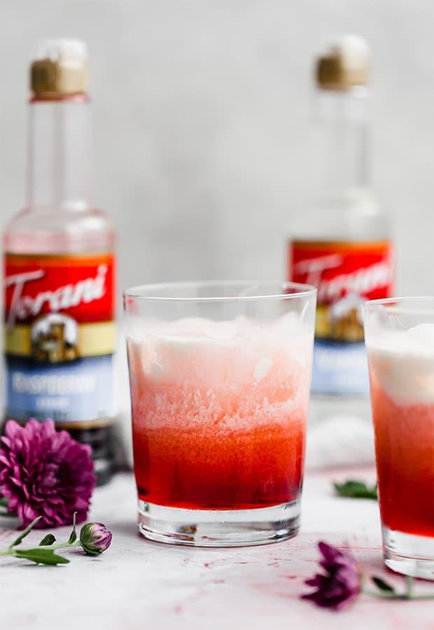 A glass of homemade Italian Cream Soda.