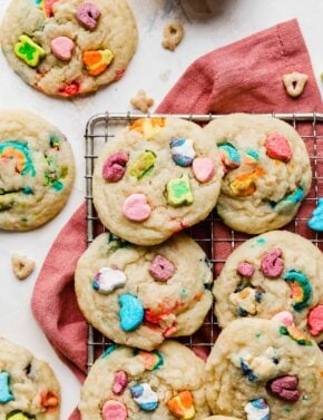 Soft Lucky Charms Cookies
