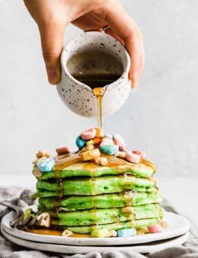 St. Patrick's Day Green Pancakes